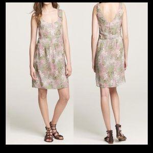 Jcrew floral silk dress